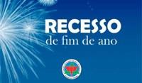 A Câmara Municipal estará fechada nos dias 31 de dezembro e 01 de janeiro.