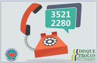 PROCON disponibiliza atendimento por telefone.